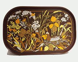 themed serving tray 70s serving tray etsy
