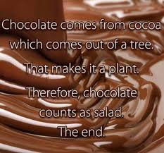 Chocolate Memes - chocolate counts as salad weknowmemes