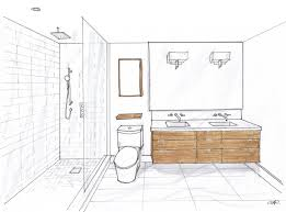 Furniture Design Sketches Custom 60 Bathroom Drawing Design Decoration Of Bathroom Drawing