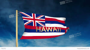 Image Of Hawaiian Flag Hawaii Flag Slider Style With Title Waving In The Wind With Cloud