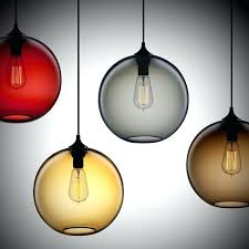 Colored Glass Pendant Lights Glass Pendant Lights With Edison Bulbs Ricardoigea