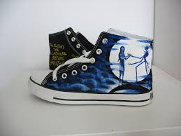 custom converse nightmare before shoes painted on