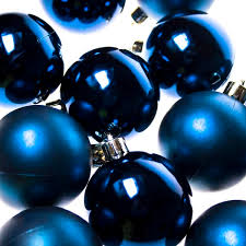 Blue Christmas Decorations Uk by Dark Blue Baubles Shatterproof Pack Of 12 X 60mm Party