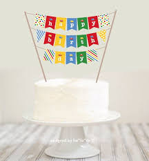banner cake topper mini birthday cake bunting image inspiration of cake and