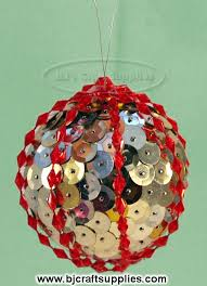 another christmas ornament with sequins