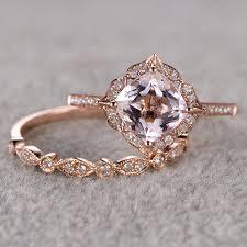 antique rose rings images Antique rose gold engagement rings ring for women 2pcs 15 ct jpg