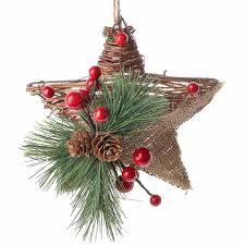 rustic burlap and grapevine ornament ornaments