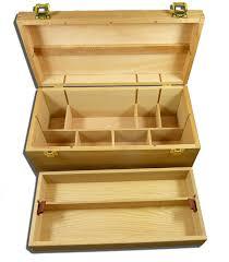 quality artist storage box with tray