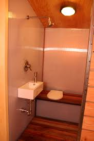 yestermorrow tiny house 2011 fine homebuilding the bathroom includes a composting toilet with urine diversion system the entire bathroom is considered a