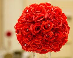 roses centerpieces centerpiece etsy