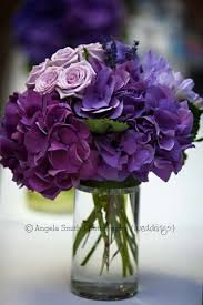 Purple Centerpieces Purple Hydrangea Lavender Wedding Table Center Www