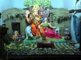 Home Ganpati Decoration Ganapati Bapa Morya Gauri With Ganesh Beautiful Pictures By Sapana