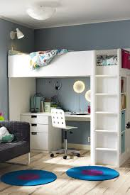 the furniture white kids bedroom set with loft bed in put your home in back to school mode the ikea stuva loft bed with
