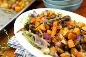 roasted fall vegetables colorful recipes