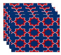 bungalow rose oliver bohemian 2 geometric print placemat set of 4