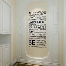 diy english letter removable wallpaper home decoration wall