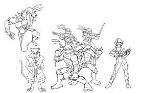 ninja turtle pictures color free coloring pages art