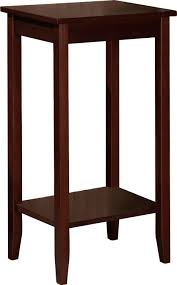 amazon com set of 2 rosewood tall end tables coffee brown
