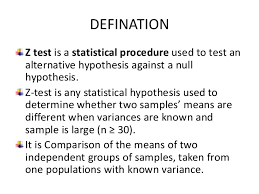 z test with examples
