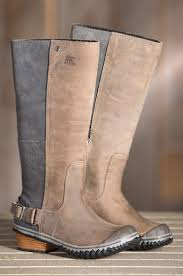 dirty riding boots we can u0027t help but crush on the sorel slimpack riding tall boots
