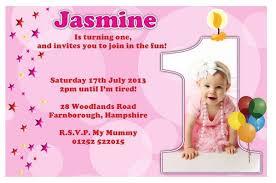 1st birthday invitation message examples 1st birthday invitation