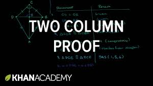two column proof showing segments are perpendicular congruence
