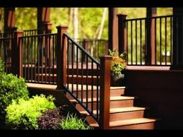 deck stair railing kit deck stair railing kit youtube