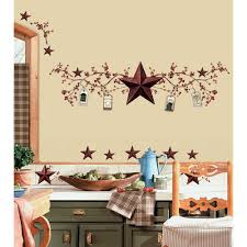 New STARS & BERRIES WALL DECALS Country Kitchen Stickers Rustic