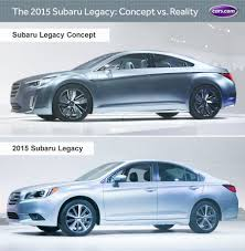 subaru concept cars 2015 subaru legacy concept vs reality news cars com