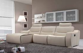 White Leather Sectional Sofa Off White Leather 2143 Modern Reclining Sectional Sofa By Esf
