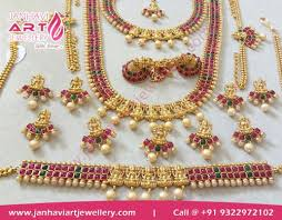 indian wedding necklace images Complete south indian bridal set in mumbai india janhavi art jpg