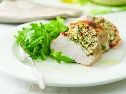 comment cuisiner blanc de poulet blancs de poulet farcis à la ricotta recettes femme actuelle