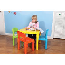 tot tutors table and chair set alphaespace usa rakuten global market table chair four points set