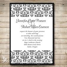 damask wedding invitations affordable black damask wedding invitations iwi291 wedding