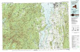 A Map Of New York State by New York Topo Maps Topographic Maps 1 100 000