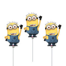 minions centerpieces fast ship minions birthday balloons cup and stick included