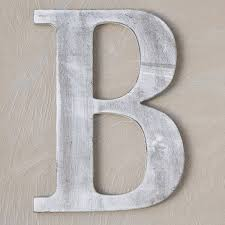 wood block letter charcoal grey 14in b the lucky clover