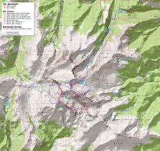 Bent Creek Trail Map 14ers Com U2022 Mt Evans Route Description West Ridge Via Chicago
