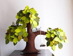bonsai saule pleureur saule pleureur avec des hiboux feutre willow tree décor