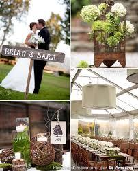 mariage original id es décoration mariage chêtre idées rustiques fougère vert anis