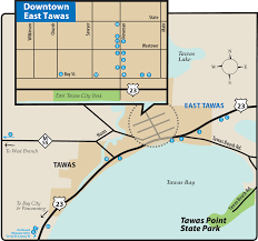 Map Of Tri State Area Tawas Point State Parkmaps U0026 Area Guide Shoreline Visitors Guide