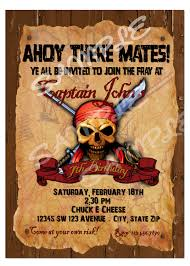 pirate invitation pirate birthday invitation diy printable