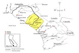 California Missions Map Juaneño Wikipedia