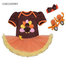 Thanksgiving Dress Baby Turkey Newborn Baby Thanksgiving Baby Lace Romper