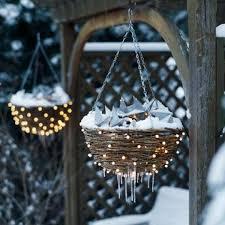 christmas hanging baskets with lights decorating with baskets decorate hanging baskets with mini lights