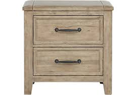 alpine lake washed oak nightstand nightstands light wood