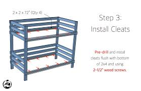 X Bunk Bed  Rogue Engineer - Wooden bunk bed plans