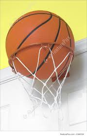basketball in small hoop image