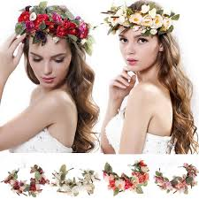 flower hairband online shop women flowers wreath bridal flower crown headband kids