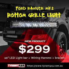 ford ranger mkii 2015 2017 bottom grille led light bar u0026 bracket
